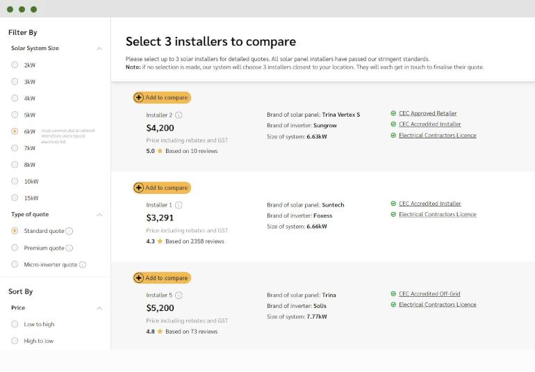 Choice Home Warranty Vendor Login >> Australia S Only Instant Solar Quote Comparison Service