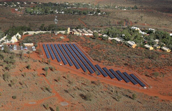 1.8 MW solar system with Jinko Solar Panels at Voyages Ayers Rock Resort