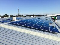 100kW solar system prominent retail chain western Sydney