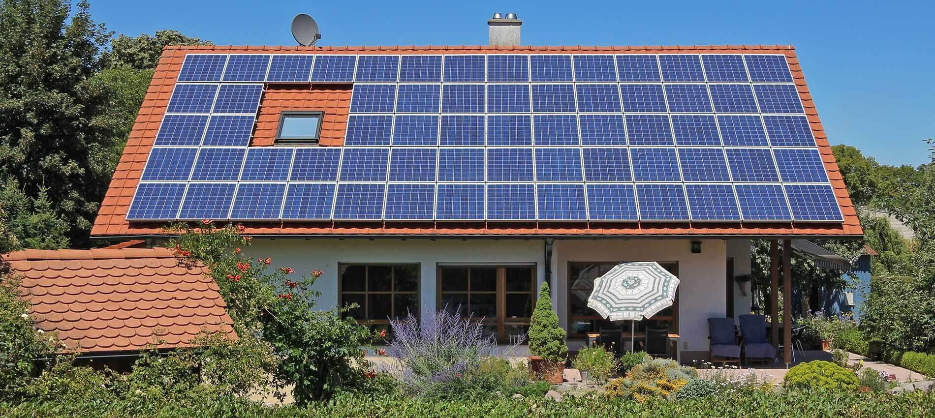 10kW Solar power installation example roof-mounted