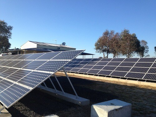 Commercial solar farm, western NSW