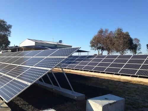 Commercial solar farm, western NSW