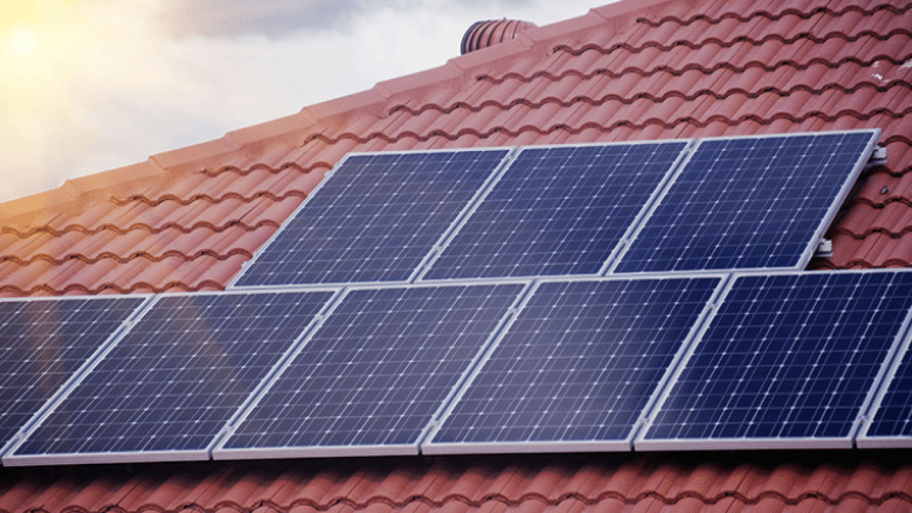 3kW rooftop solar panel system