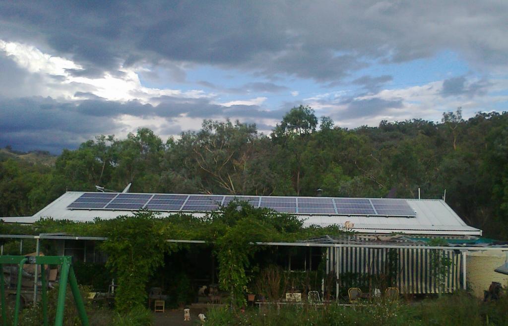 5kW rooftop Solar PV array, near Tamworth NSW