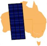 Australia and a solar panel