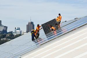 solar installation on Cockatoo Island