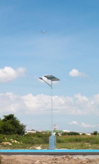 Bangcock airport lighting batteries