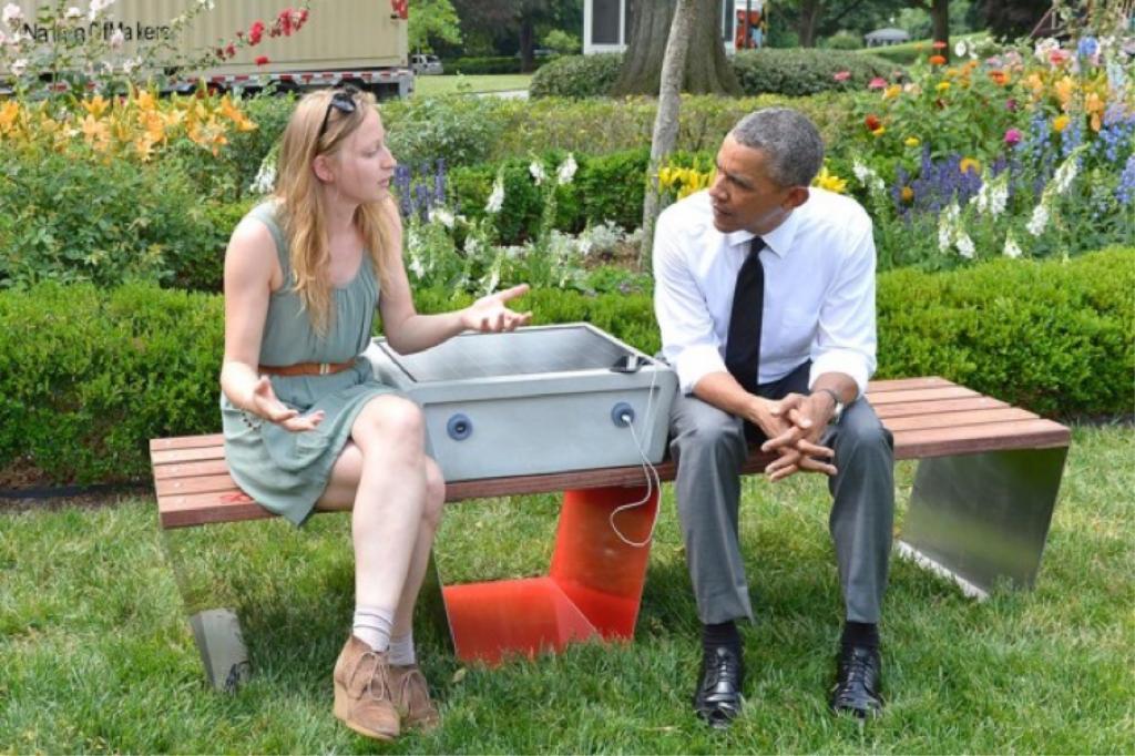 Boston Solar Benches Obama