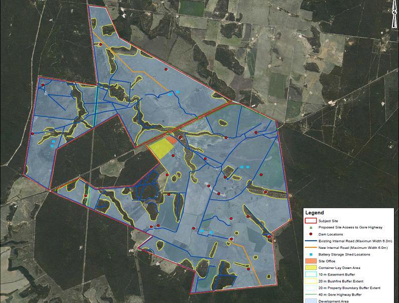 Bulli Creek Solar Farm, Indicative Footprint