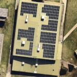 CSU solar power array aerial image