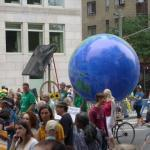 Climate March solar powered earth