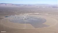 Crescent Dunes solar power plant: Image via Solar Reserve