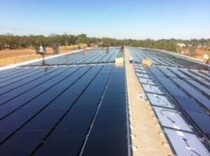 Solar Choice assisted in organising this 80kW installation on a shed roof in Western Australia