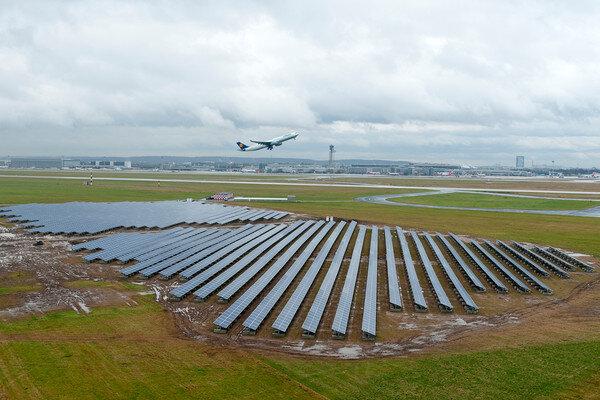 Dusseldorf International Airport solar PV array
