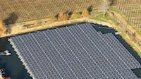 Far Niente Winery floating solar array