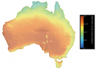 Daily solar exposure Australia
