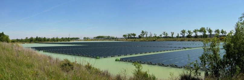 Floating solar PV installation Ciel et Terre