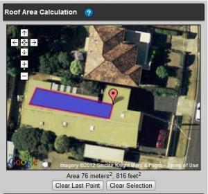 Google Map roof integration Solar eCRM
