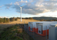 Wind farm and batteries