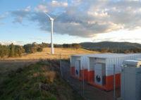 Battery backup wind farm