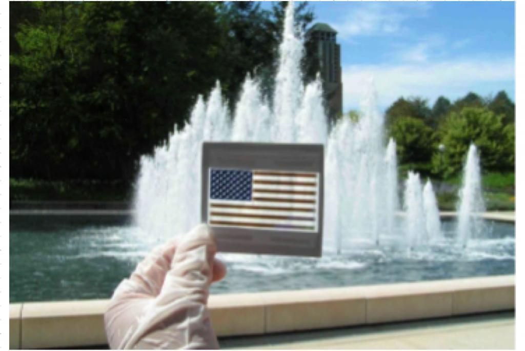 Hybrid organic inorganic solar cells fountain