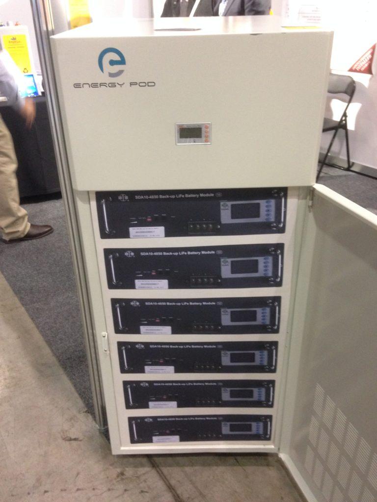 Ampetus Energy's EnergyPod (door open with dummy batteries).