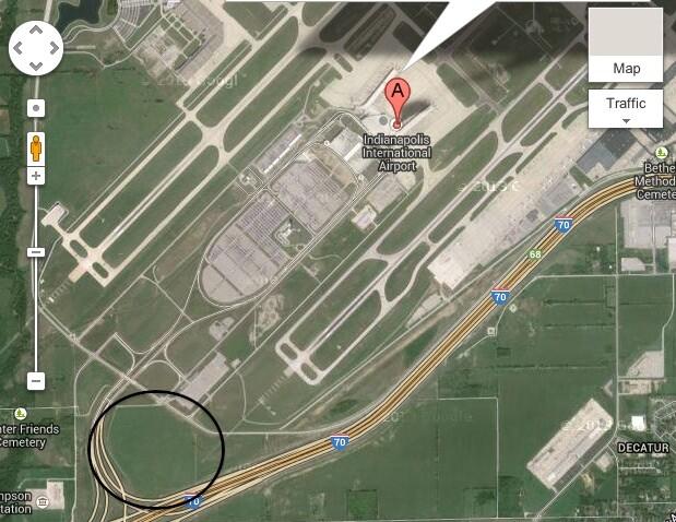 Indianapolis Airport Solar Farm Location