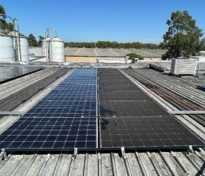 Industrial particulate matter build up on solar panels