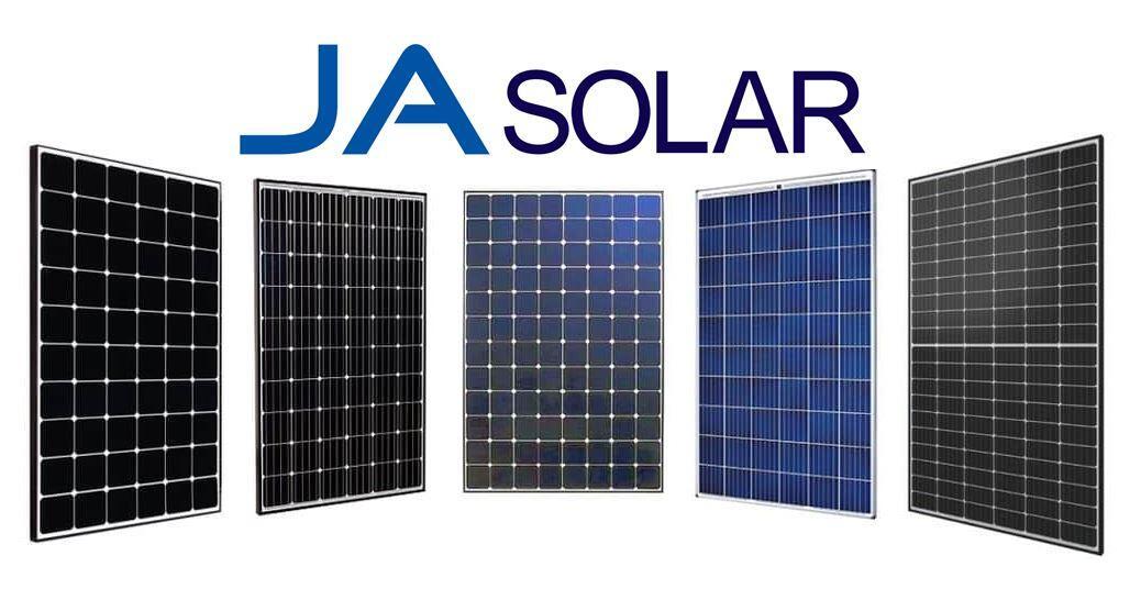 JA Solar Panels banner image showing different modules