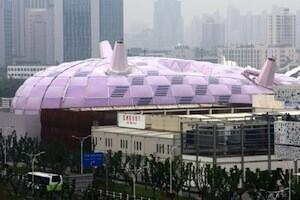 Thin film solar cells on the Japan Pavillion at the Shanghai expo