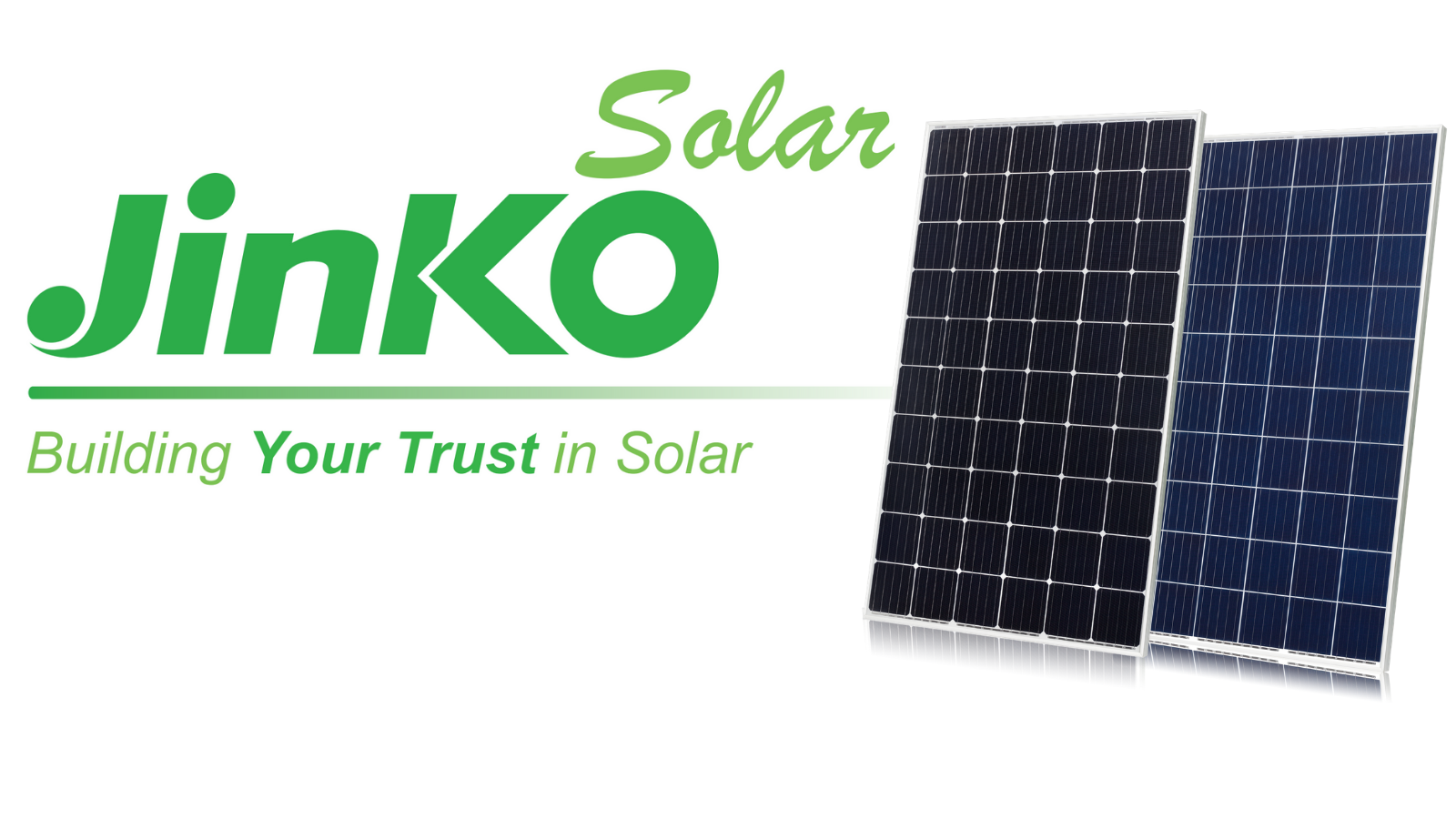 Jinko solar panels review banner image and logo