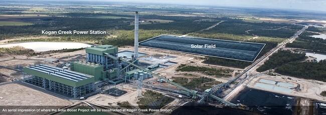Kogan Creek Solar Boost Project visualisation