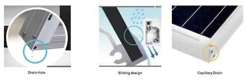 LG Solar Panels water drain design