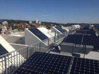 Solar panels for residential apartment blocks