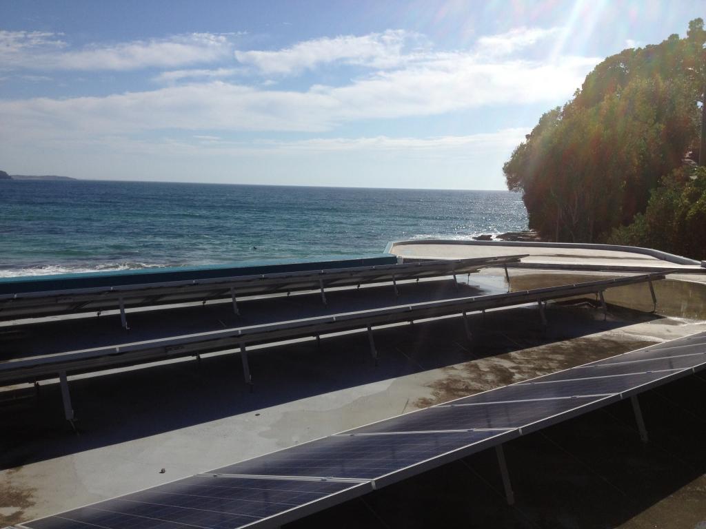 Manly Surf Club solar array ocean
