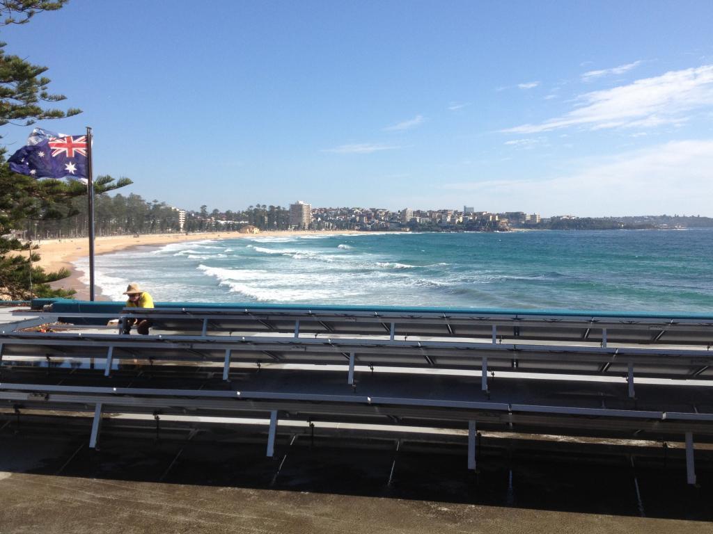 Manly Surf Life Saving Club solar panels flag