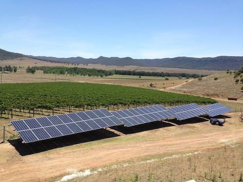 Martindale Vineyard 30kW solar array