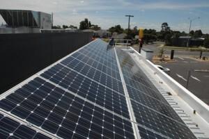 McDonalds Kilsyth 8kW east-facing solar panel array