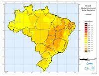 Brazil solar insolation map