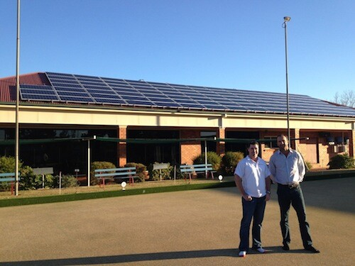 30kW commercial solar power installation on Narromine Bowline Club, NSW