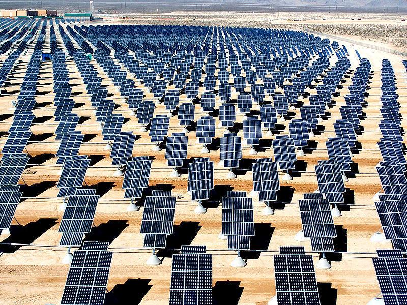 Nellis Air Force Base solar PV arrays