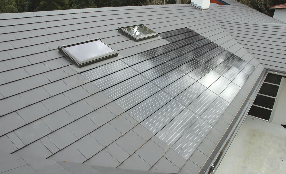 A I Roofing : Solar insert by nu lok roofing replaces slate tiles