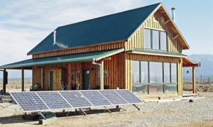 Off-grid home with solar