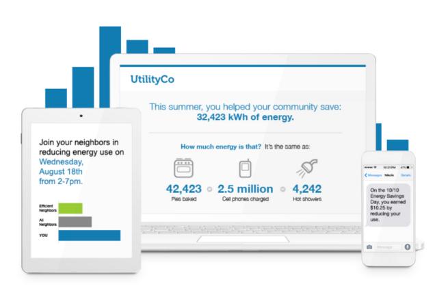 Opower demand response messages