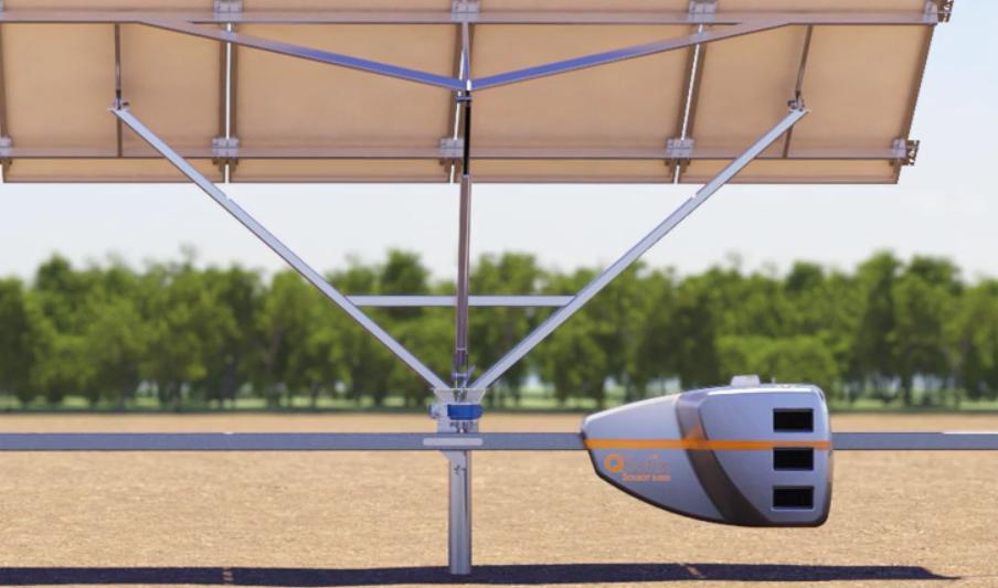 QBotics SolBot, track, and solar array