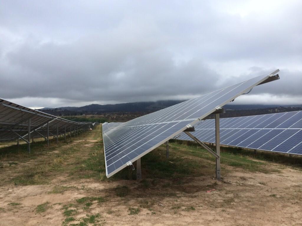 Royalla Solar Farm under construction