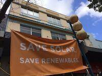 Save Solar sign - Solar Business Services