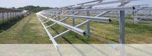 Schletter solar mounting system before addition of solar PV panels