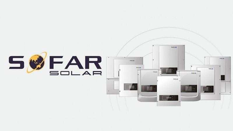 Sofar Solar inverter banner image showing different models