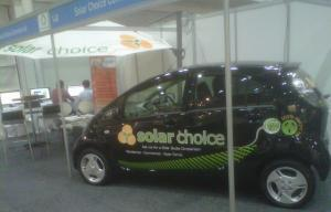 The Solar Choice Commercial Booth at Clean Energy Week